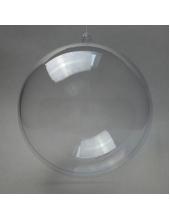 Заготовка ёлочный Шар, прозрачный пластик, 16 см, Германия