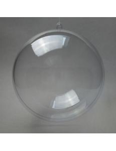 Заготовка ёлочный Шар, прозрачный пластик, 20 см
