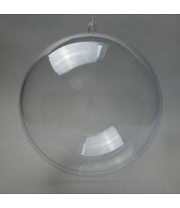 Заготовка Шар прозрачный пластик, 18 см, Rayher (Германия)