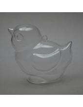 Заготовка ёлочной игрушки Цыпленок, прозрачный пластик, 9 см, Schiller-plastic (Германия)