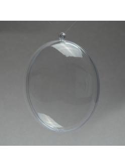 Заготовка медальон разъемный 11 см, прозрачеый пластик, Германия