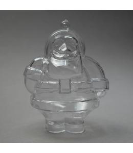 Заготовка ёлочной игрушки Санта Клаус, прозрачный пластик, 10 см, Schiller-plastic (Германия)