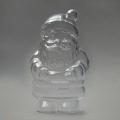 Заготовка ёлочной игрушки Дед Мороз, прозрачный пластик, 10 см