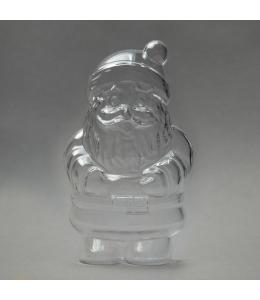 Заготовка ёлочной игрушки Дед Мороз, прозрачный пластик, 10 см, Германия