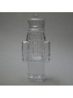Заготовка ёлочной игрушки Щелкунчик, прозрачный пластик, 13 см