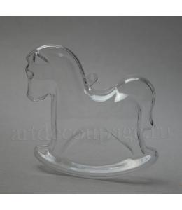 Заготовка фигурка Лошадка качалка, прозрачный пластик, 9 см
