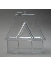Заготовка фигурка Домик для саше, прозрачный пластик, 10 см, Германия
