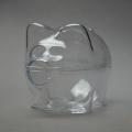 Заготовка ёлочной игрушки Свинья-копилка, прозрачный пластик, 10 см