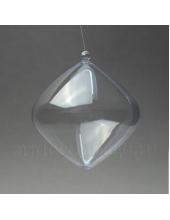 Заготовка фигурка Луковица, прозрачный пластик, 8,5 см, Германия