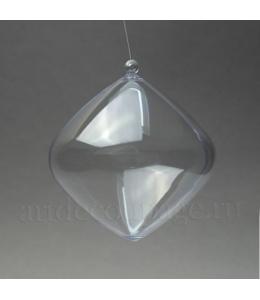 Заготовка фигурка Луковица, прозрачный пластик, 8,5 см