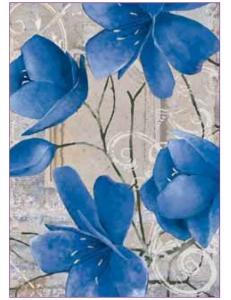 """Рисовая бумага для декупажа Renkalik 027M """"Синие цветы"""", 50х70 см"""