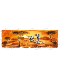 "Рисовая бумага для декупажа Renkalik ""Африка, саванна - 2"", 25х70 см"