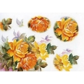 Рисовая бумага для декупажа Renkalik Желтые розы, 35х50 см