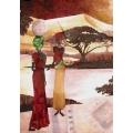 Рисовая бумага для декупажа Renkalik Африканские женщины, 35х50 см