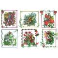 Рисовая бумага для декупажа Renkalik Эльфы, цветочные рамки, 35х50 см