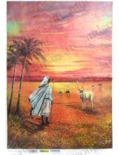 Рисовая бумага для декупажа Renkalik Африка. Возвращение в деревню, 35х50 см