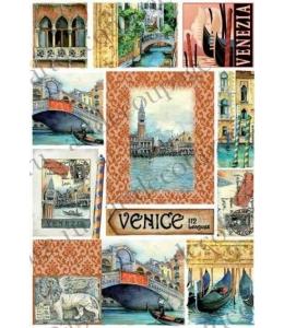 Рисовая бумага для декупажа Renkalik Венеция, 35х50 см