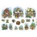 Рисовая бумага для декупажа Зимняя деревня, дети, 35х50 см, Renkalik