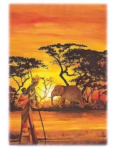 """Рисовая бумага для декупажа Renkalik 218 """"Африка, Кения"""", 35х50 см"""