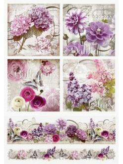 Рисовая бумага для декупажа Цветы, орнамент, Renkalik