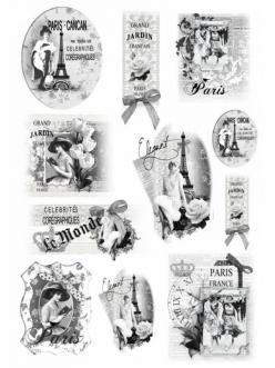 Рисовая бумага для декупажа Ретро Париж, Renkalik