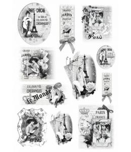 "Рисовая бумага для декупажа Renkalik 262 ""Ретро Париж"", 35х50 см"