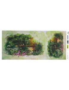"Рисовая бумага для декупажа Renkalik T012 ""Пейзаж, акварель"", 23х50 см"