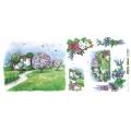 """Рисовая бумага для декупажа Renkalik T038 """"Весна, пейзаж, цветы"""", 23х50 см"""