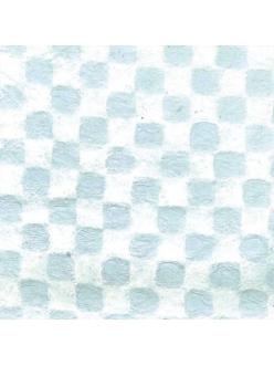 Рисовая перфорированная бумага Stamperia CN61 белая клетка, 35х50 см