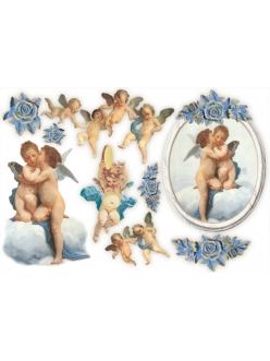 Рисовая бумага для декупажа Ангелы и амуры, 33x48 см