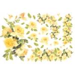 """Рисовая бумага для декупажа Stamperia DFS046 """"Желтые розы"""", 33x48 см"""