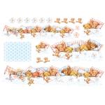 """Рисовая бумага для декупажа Stamperia DFS062 """"Плюшевые мишки, крепкий сон"""", 33х48 см"""
