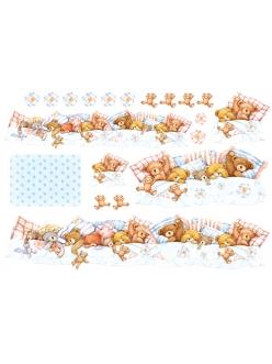 Рисовая бумага для декупажа Плюшевые мишки, 33х48 см, Stamperia DFS062