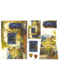 Рисовая бумага для декупажа Прованский дворик, Stamperia DFS074, 33x48 см
