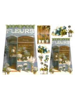 Рисовая бумага для декупажа Цветочный магазин, 33x48 см, Stamperia DFS075