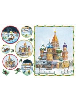 Рисовая бумага для декупажа Русские пейзажи, 33x48 см,  Stamperia DFS090