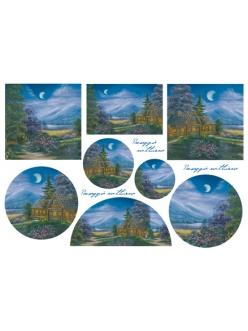 Рисовая бумага для декупажа Stamperia DFS092 Ночной пейзаж, 33x48 см