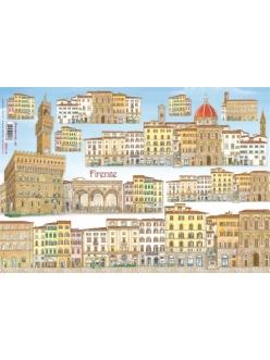 Рисовая бумага для декупажа Флоренция, 33x48 см, Stamperia