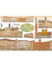 """Рисовая бумага для декупажа Stamperia DFS116 """"Сиена, Италия"""", 33x48 см"""