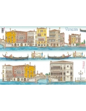 """Рисовая бумага для декупажа Stamperia DFS117 """"Венеция, Италия"""", 33x48 см"""