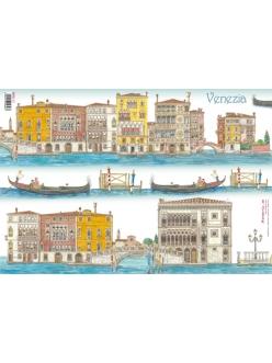 Рисовая бумага для декупажа Венеция, 33x48 см, Stamperia