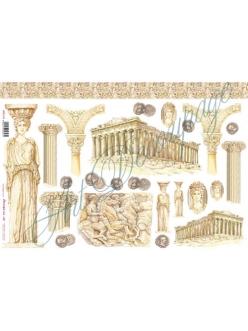 Рисовая бумага для декупажа Древняя Греция, 33х48 см, Stamperia