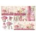 """Рисовая бумага для декупажа """"Розовый дом"""", 33x48 см, Stamperia DFS123"""