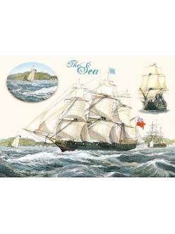 Рисовая бумага для декупажа Stamperia DFS124 Море, корабль, 33x48 см