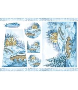 """Рисовая бумага для декупажа Stamperia DFS125 """"Рождественский пейзаж"""", 33x48 см"""