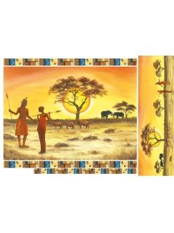 Рисовая бумага для декупажа Африка, 33x48 см, Stamperia