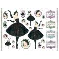 "Рисовая бумага для декупажа Stamperia DFS150 ""Балерина"", 33x48 см, 20 г/м2"