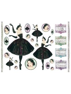 Рисовая бумага для декупажа Балерина, 33x48 см, Stamperia DFS150