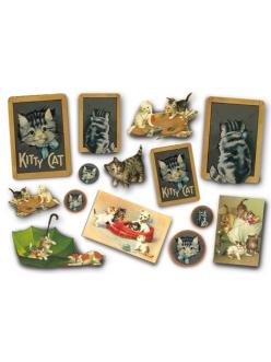"Рисовая бумага для декупажа Stamperia DFS154 ""Мой Kitty Cat"", 33x48 см, 20г/м2"