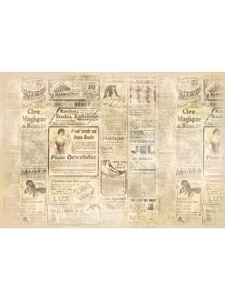 Рисовая бумага для декупажа Старая газета, 33х48 см, Stamperia DFS157
